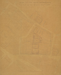 Plan of the Bank of England as built by Geo. Sampson, archt. 1734